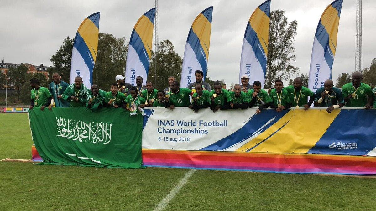 Saudi athletes with special needs win fourth INAS World Football Championships