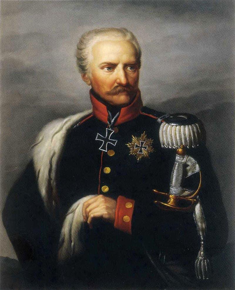 لوحة زيتية تجسد الجنرال فون بلوشر