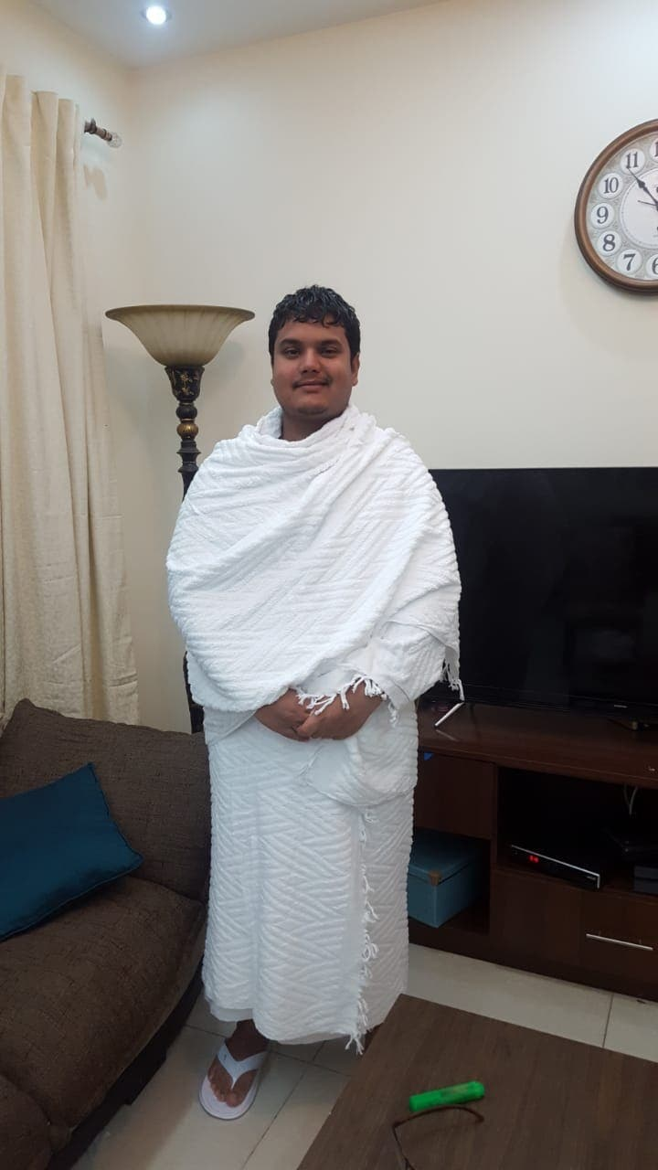 He chose the first opportunity he got to perform Hajj, which means a lot for this 25-year-old. (Al Arabiya)
