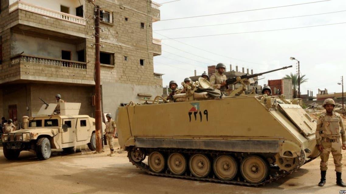 قوات من الجيش المصري في شمال سيناء
