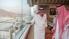 Saudi King Salman arrives in Mina to oversee Hajj pilgrims' comfort