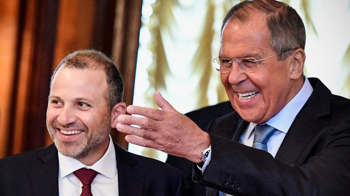 FMs Bassil and Lavrov in Moscow (AFP)