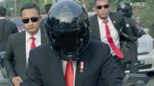 WATCH: Indonesian president's motorbike stunt for Asian Games goes viral