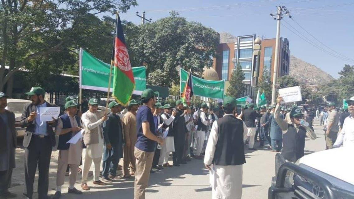تظاهرات در کابل علیه آتش بس سه ماهه حکومت افغانستان با طالبان