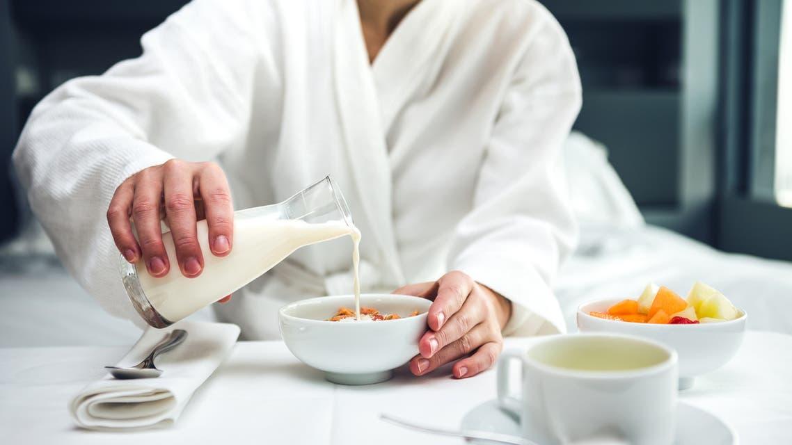 Breakfast In Bed - Stock image