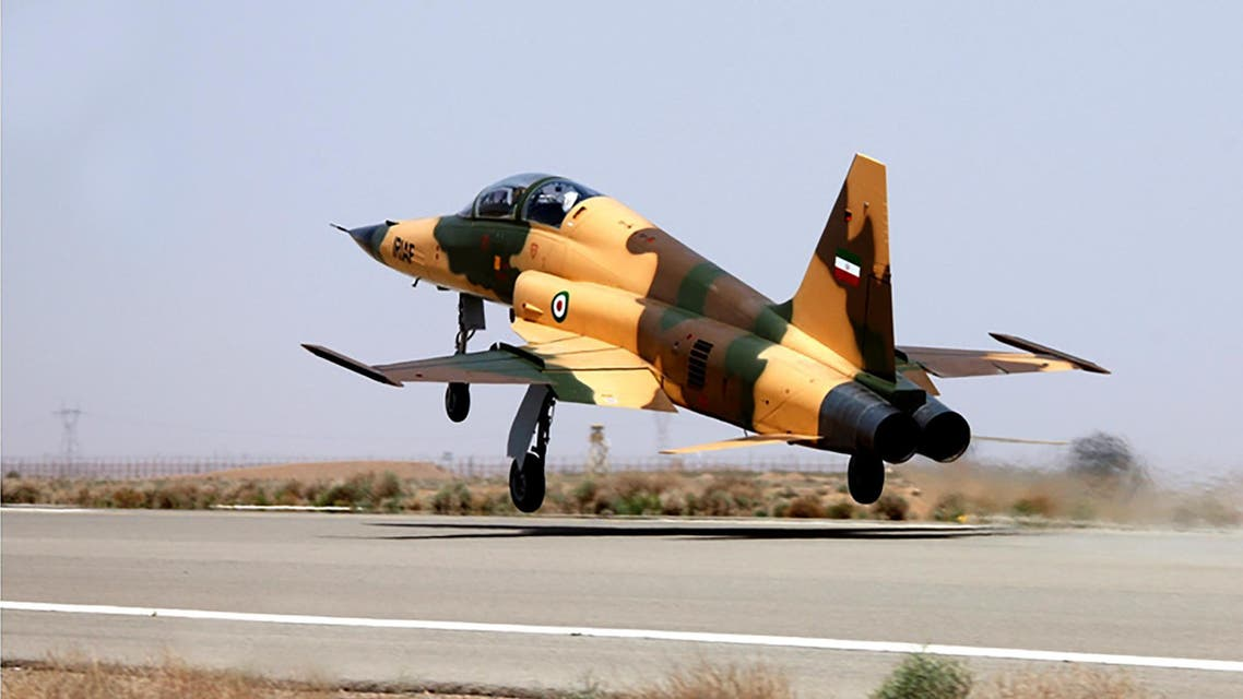 """A handout picture released by Iran's Defence Ministry on August 21, 2018, shows the """"Kowsar"""" domestic fighter jet, a fourth-generation fighter, with """"advanced avionics"""" and multi-purpose radar, which the local Tasnim news agency said was """"100-percent indigenously made"""". Iran unveiled its first domestic fighter jet at a defence show in the capital Tehran today."""