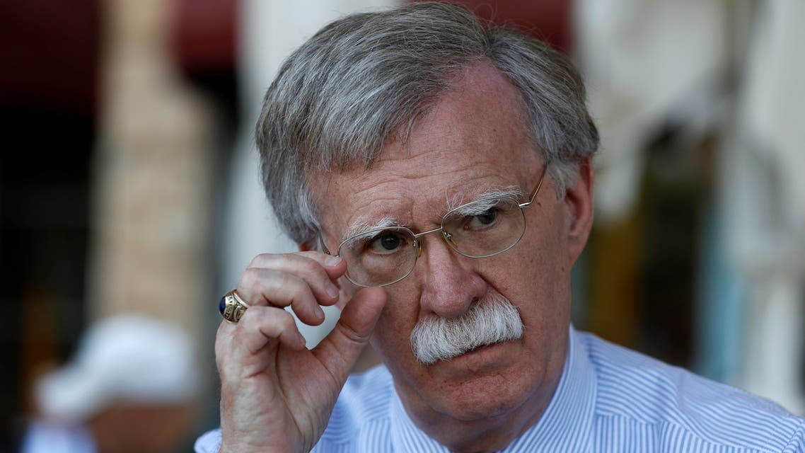 U.S. National Security Advisor John Bolton speaks during an interview with Reuters in Jerusalem August 21, 2018. Picture taken August 21, 2018. REUTERS/RonenZvulun