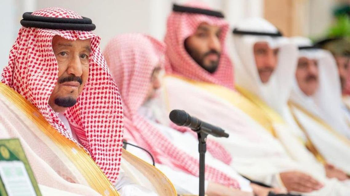 The Custodian of the Two Holy Mosques delivering his speech on Wednesday. (SPA)