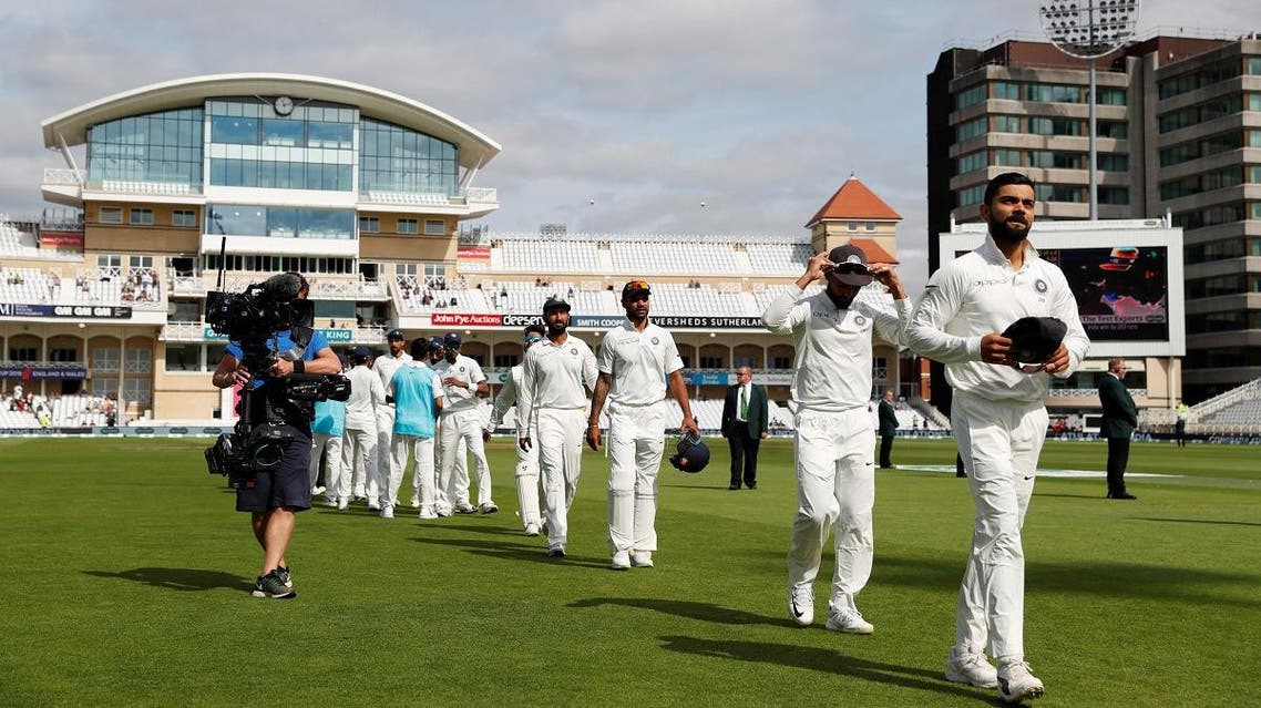 India's Virat Kohli leaves the field with teammates after the match as India win the third test against England at Trent Bridge, Nottingham, Britain,  on August 22, 2018. (Reuters)
