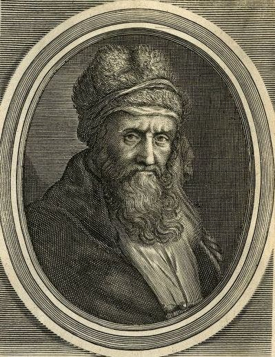 صورة للفيلسوف و المؤرخ ديوجانس اللايرتي