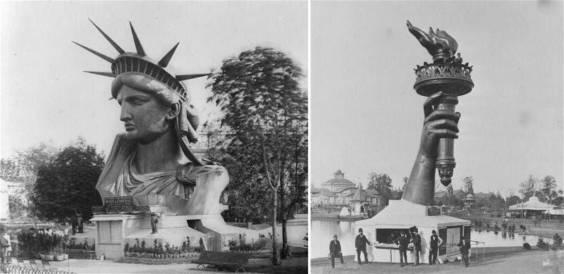 عدد من أجزاء تمثال الحرية قبل نقلها من باريس إلى نيويورك