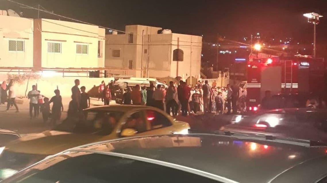 صورة متداولة بوسائل الإعلام الأردنية من موقع الحادث