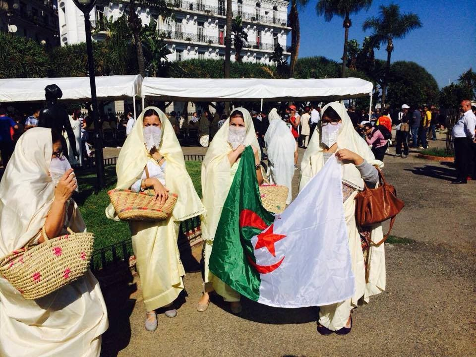 Women of Algeria wore al-Hayek on top of their cloths to cover up their bodies when leaving the house.
