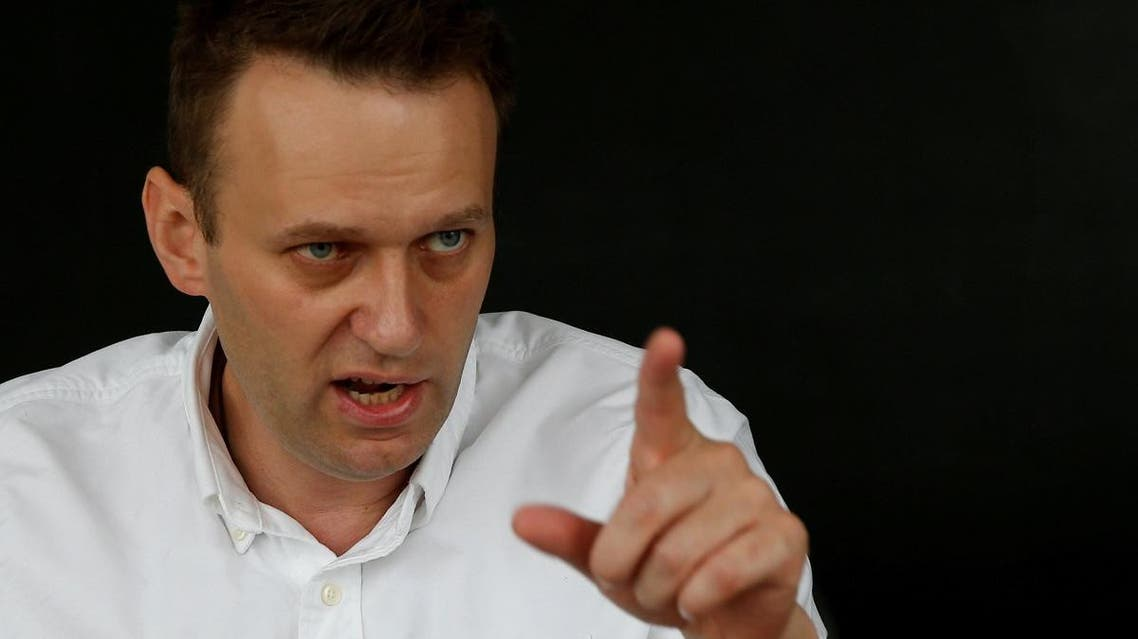 Russian opposition leader Alexei Navalny speaks during an interview with Reuters in Moscow, Russia, July 12, 2017. (Reuters)