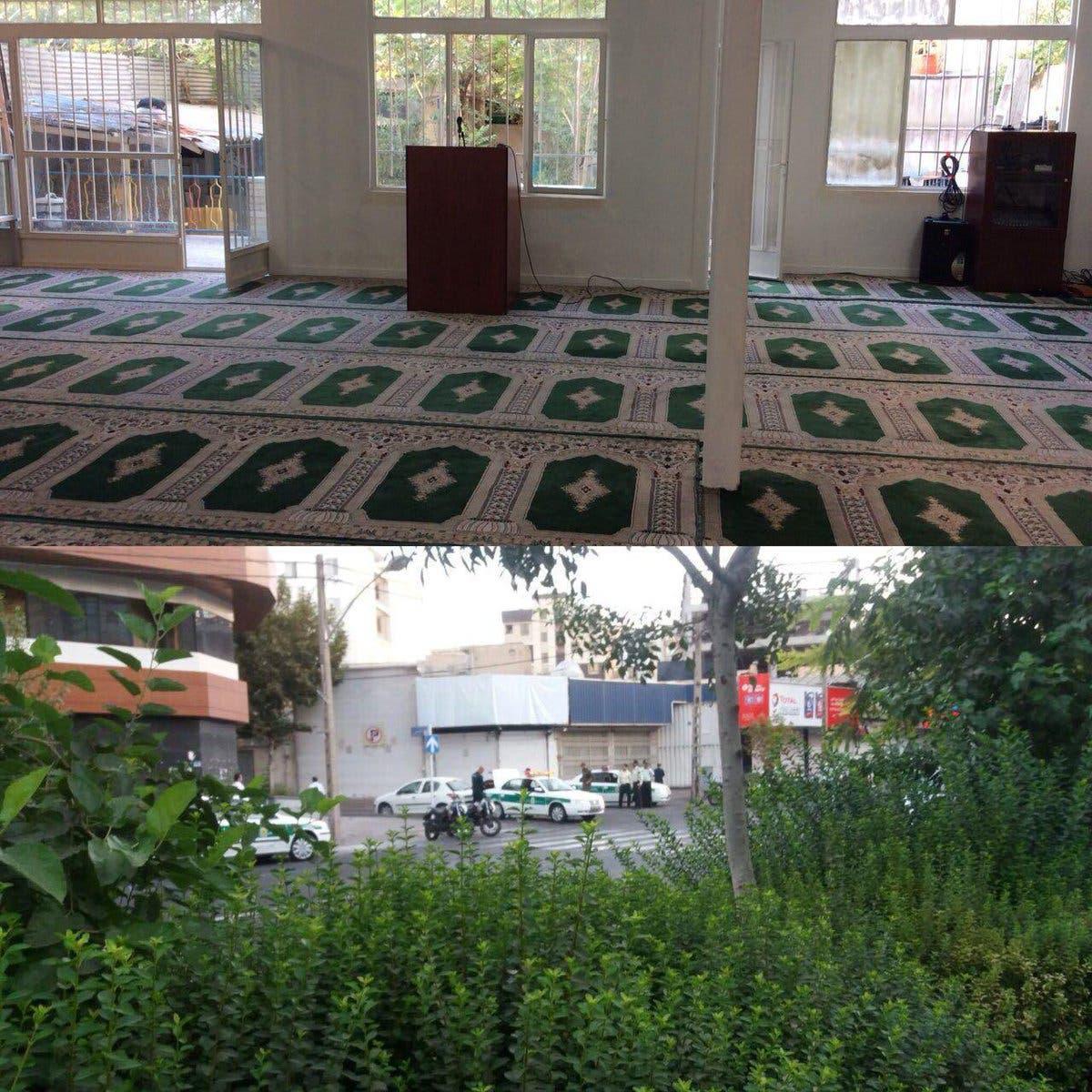 صورة من انتشار قوى الأمن الإيرانية ومنعها السنة في طهران من إقامة صلاة عيد الأضحى