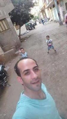 محمد وريان مع والدهما القاتل