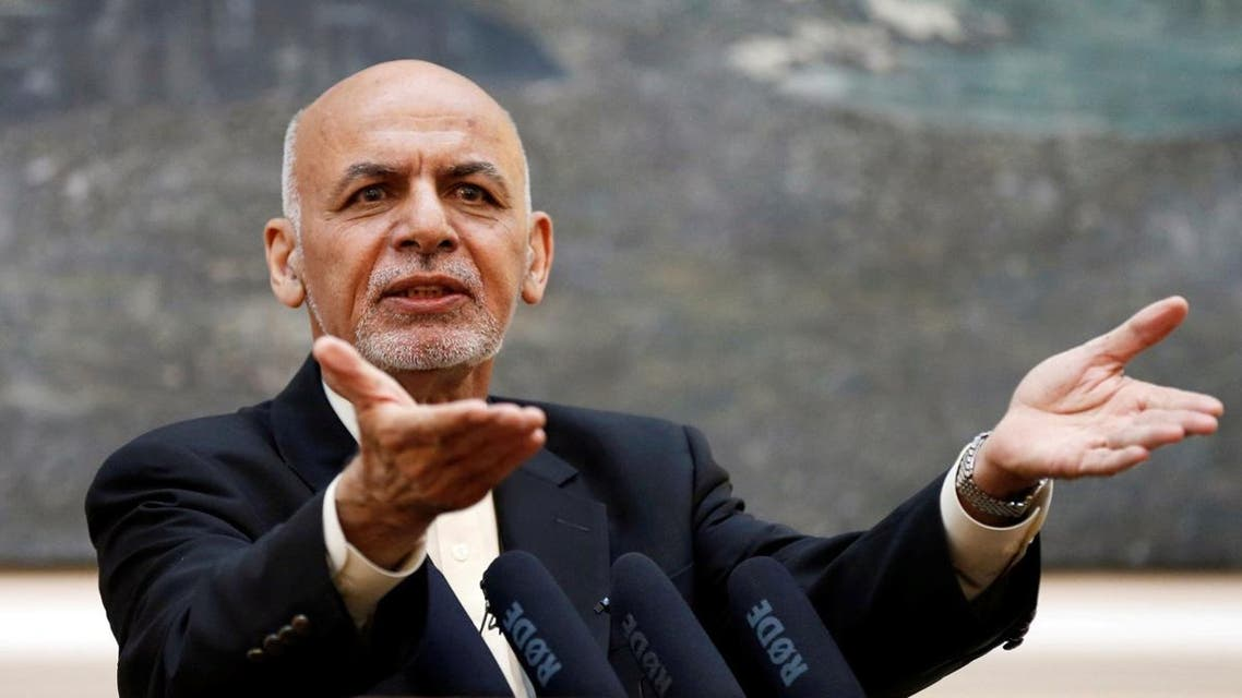 Afghan President Ashraf Ghani speaks during a news conference in Kabul. (Reuters)