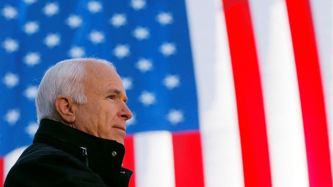 Senator John McCain (R-AZ) speaks at a campaign rally in Defiance, Ohio October 30, 2008. (Reuters)