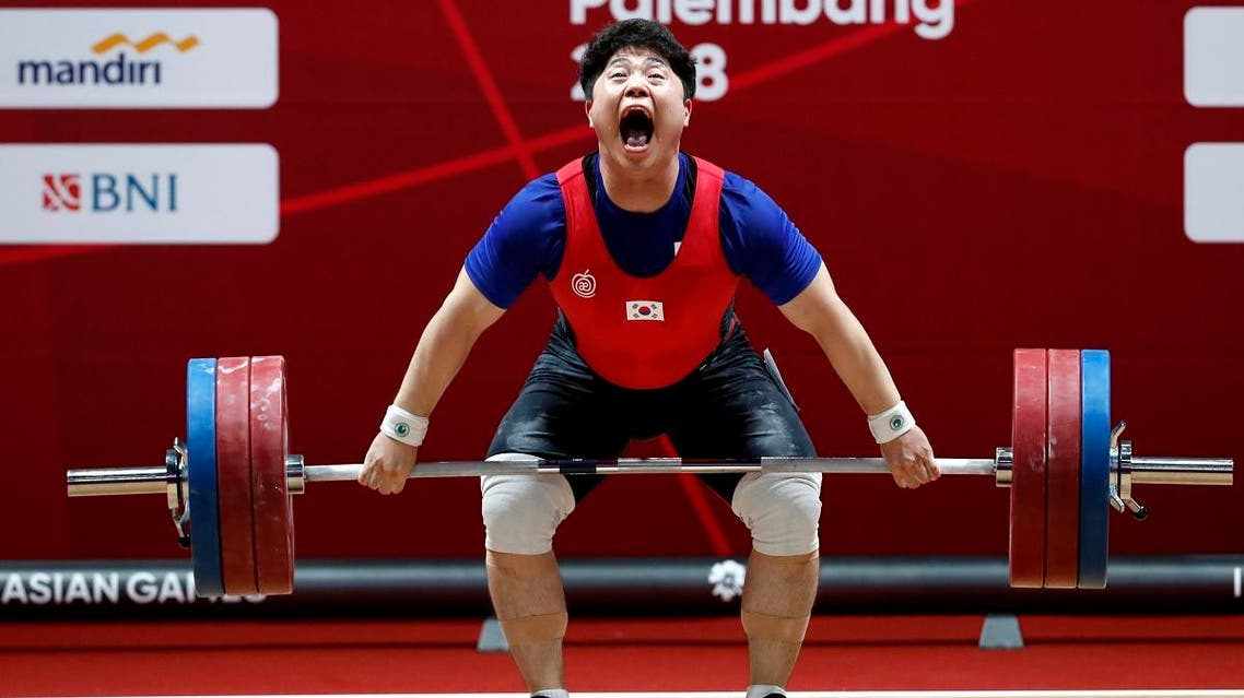Han Junghoon of South Korea in action at the Asian Games in Jakarta, Indonesia. (Reuters)