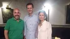 تصاویر: سرطان میں مبتلا شامی خاتون اول سرپوش اوڑھے منظر عام پر آ گئیں