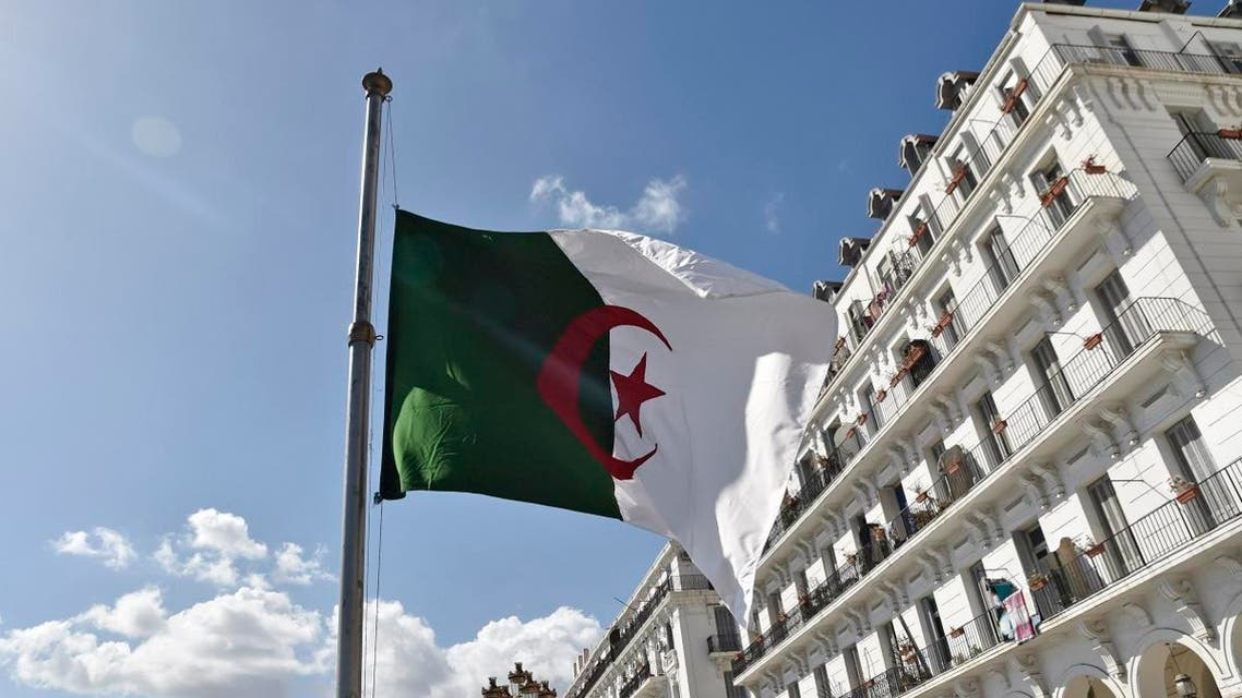 The Algerian flag is seen at half mast in the capital Algiers on April 12, 2018. (File photo: AFP)