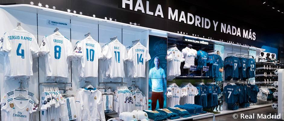 يملك ريال مدريد 13 متجرا رسميا حول العالم