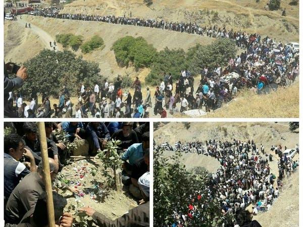 تشييع 4 نشطاء بيئة بكردستان إيران يتحول لاحتجاجات