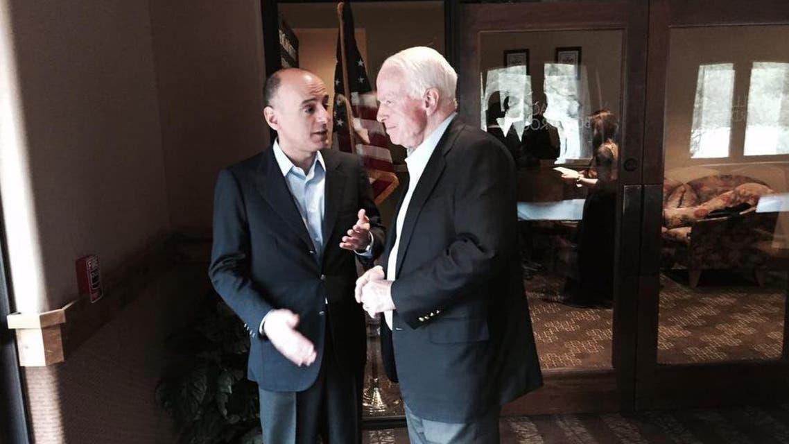 John McCain meeting with Adel al-Jubeir in 2015. (Twitter/ @SenJohnMcCain)