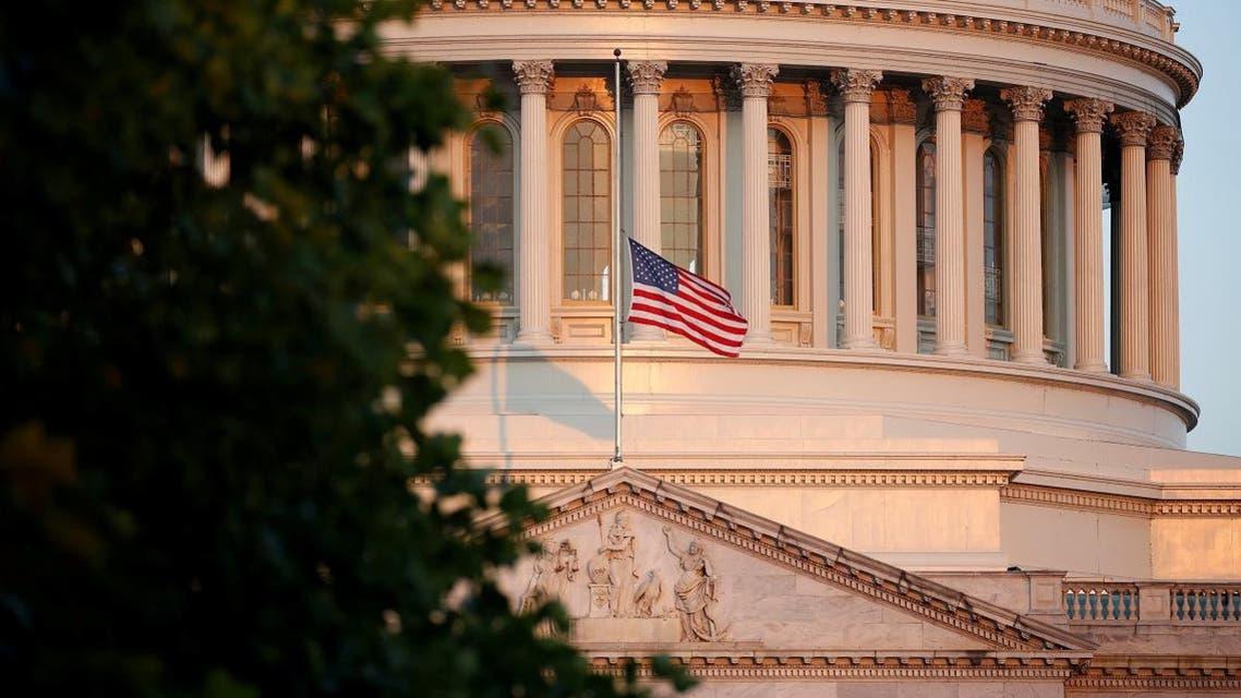 Flag flies at half-staff in honor of Senator John McCain (R-AZ) at the U.S. Capitol in Washington. (Reuters)