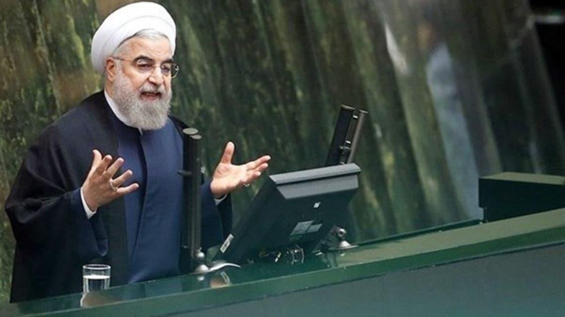 روحاني أمام البرلمان الايراني