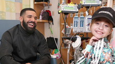 Drake visits 11-year-old girl meant to receive heart transplant