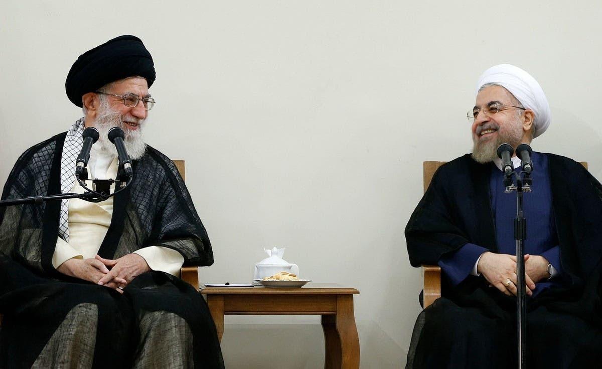 حسن روحاني والمرشد علي خامنئي