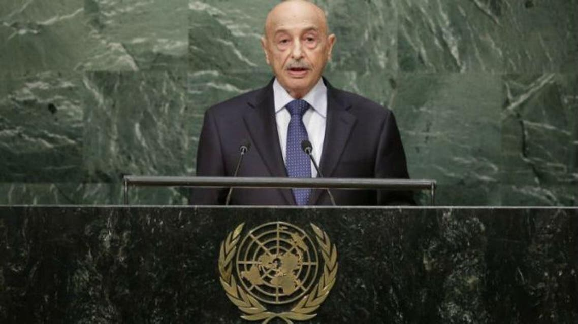 Libyan parliament speaker Aguila Saleh. (File photo: AFP)
