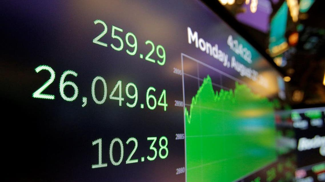 A screen displays the Dow Jones Industrial Average after the closing bell on the floor of the New York Stock Exchange (NYSE) in Manhattan. (Reuters)