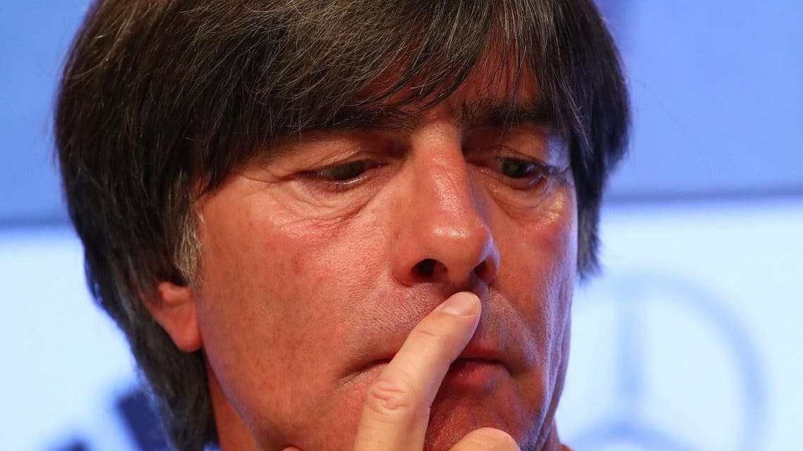 Germany coach Joachim Loew during the press conference. (Reuters)
