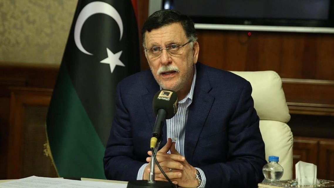 Libya's unity government Prime Minister Fayez al-Sarraj speaks about the latest situations in the capital Tripoli on August 30, 2018. (AFP)