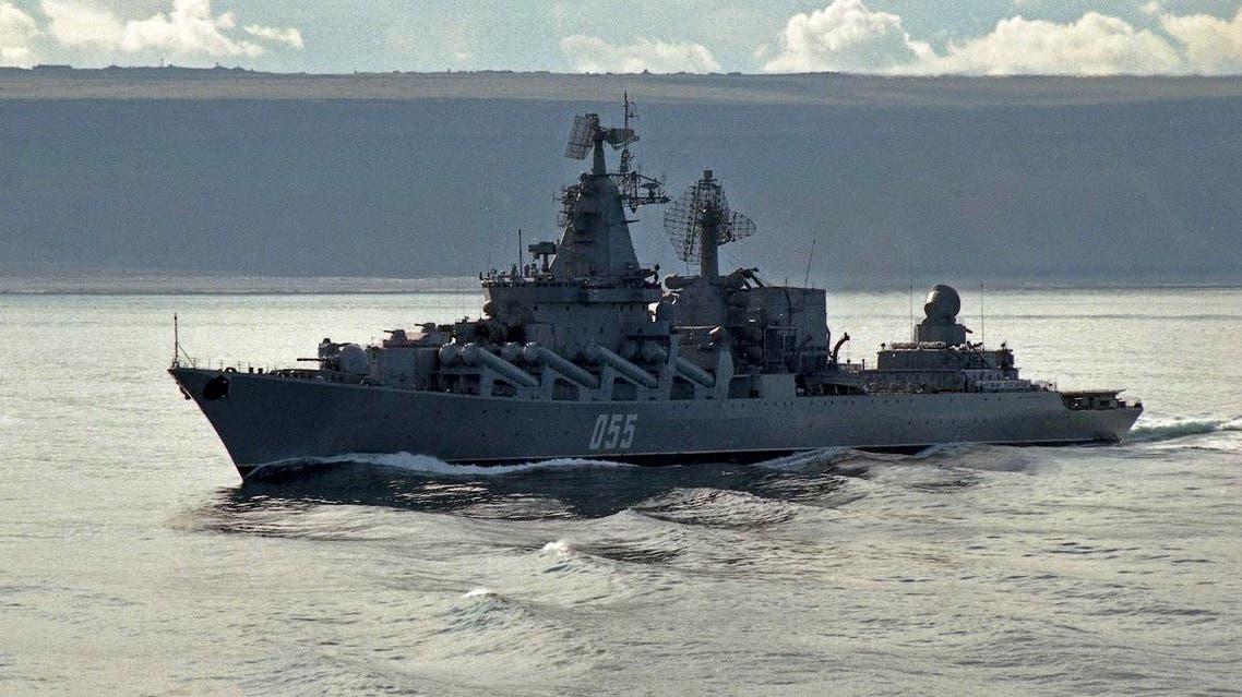 Russia Marshal Ustinov missile cruiser (AP)