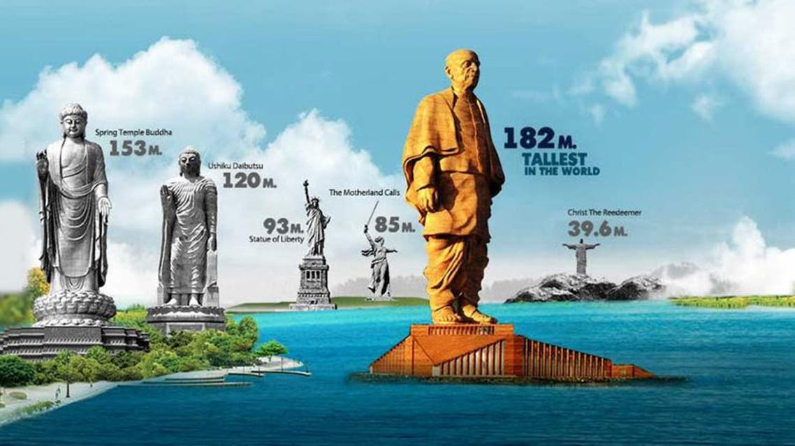 Statue of Unity will be double the height of 'Statue of Liberty'. (Supplied)