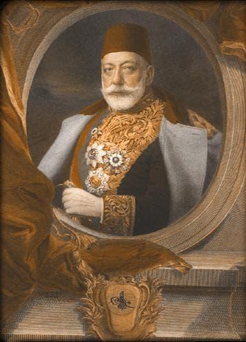صورة للسلطان العثماني محمد الخامس شقيق عبد الحميد الثاني