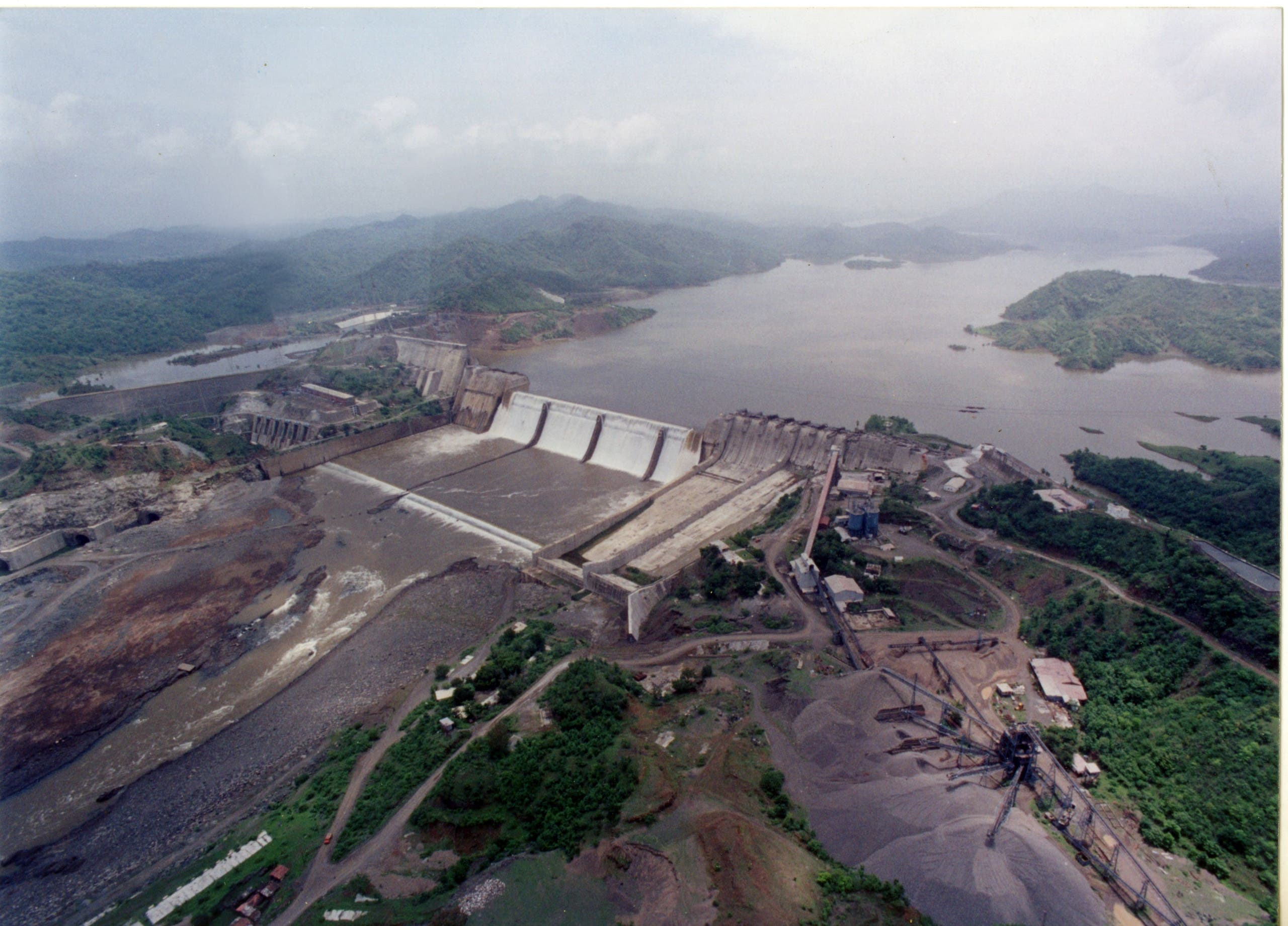 The Statue of Unity overlooks gigantic Sardar Sarovar dam, 3 km away. (Supplied)