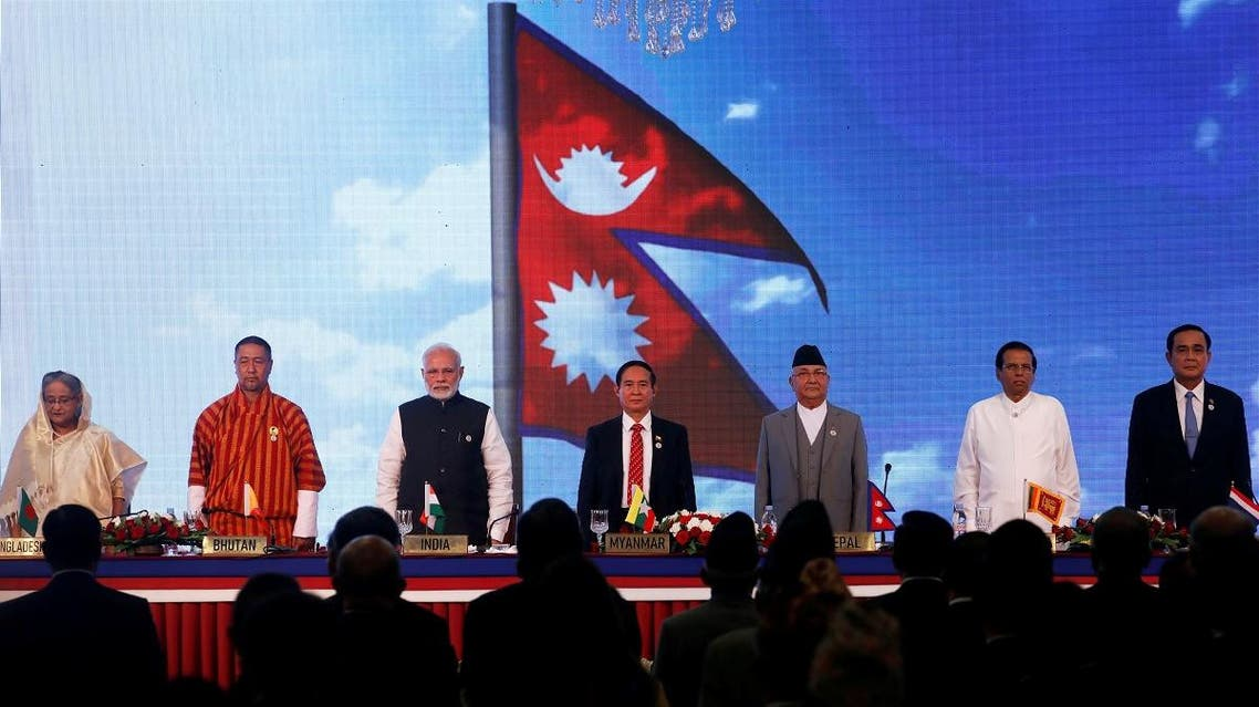 South Asian, Southeast Asian leaders attend the Bay of Bengal Initiative for Multi-Sectoral Technical and Economic Cooperation (BIMSTEC) summit in Kathmandu, Nepal, on August 30, 2018. (Reuters)