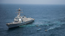 PHOTOS: US Navy seizes hundreds of arms from sailboat in Gulf of Aden near Yemen