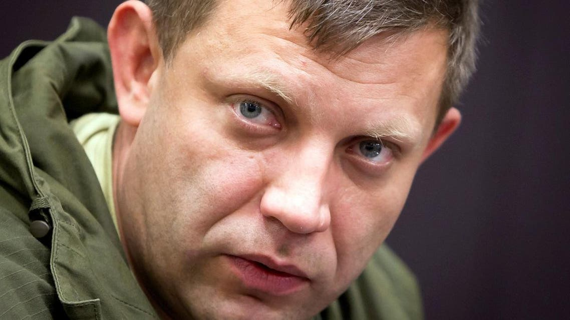 File picture of the leader of the Donetsk People's Republic Alexander Zakharchenko. (Reuters)