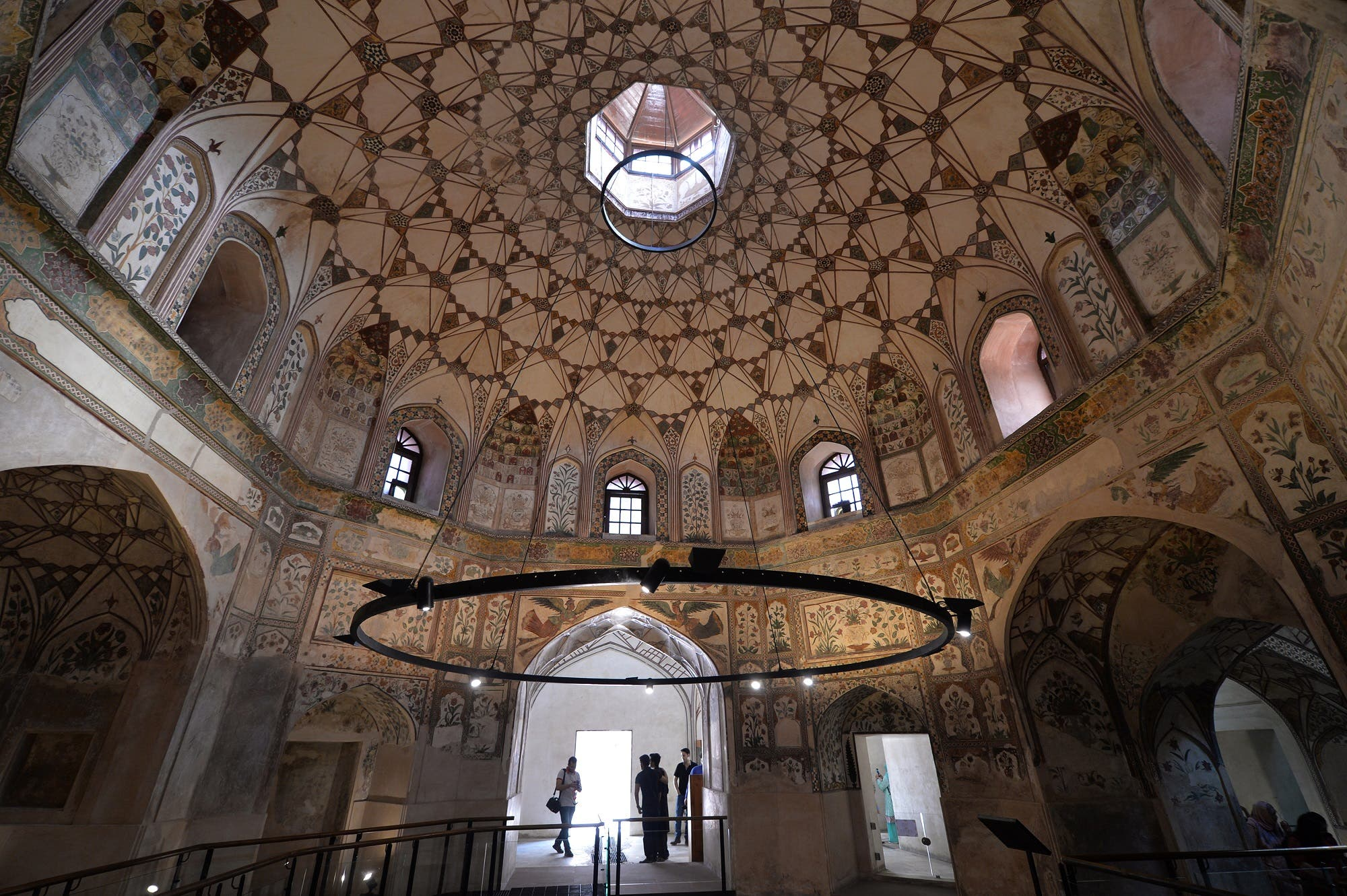 Tourists visit the Shahi Hammam, one of the only surviving 400-year-old Turkish baths in the sub-continent, in Pakistan's historic and cultural city of Lahore, on October 7, 2017. (AFP)
