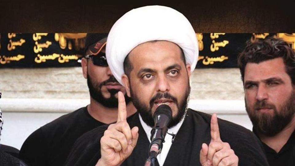 زعيم ميليشيات عصائب أهل الحق في العراق قيس الخزعلي (أرشيفية)
