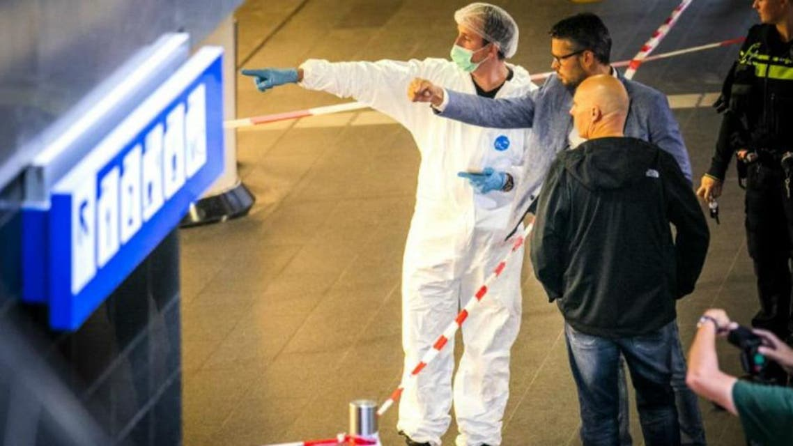 Dutch police said the man seemed to have randomly picked his two victims in the busy hall of Amsterdam central station at around midday. (AFP)