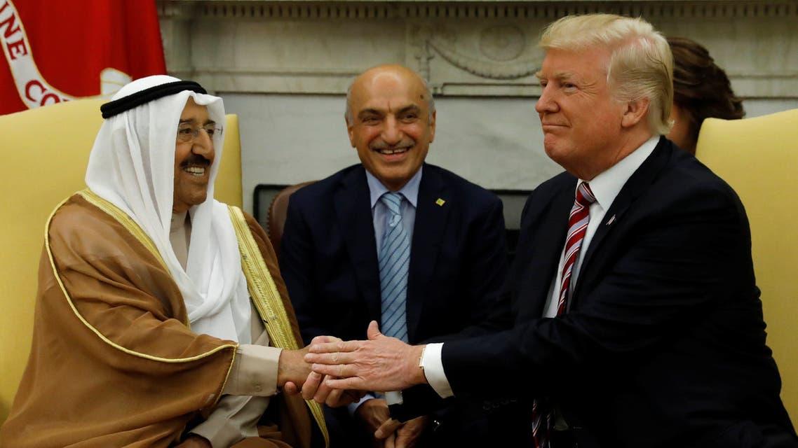لقاء سابق بين الرئيس الأميركي وأمير الكويت في واشنطن