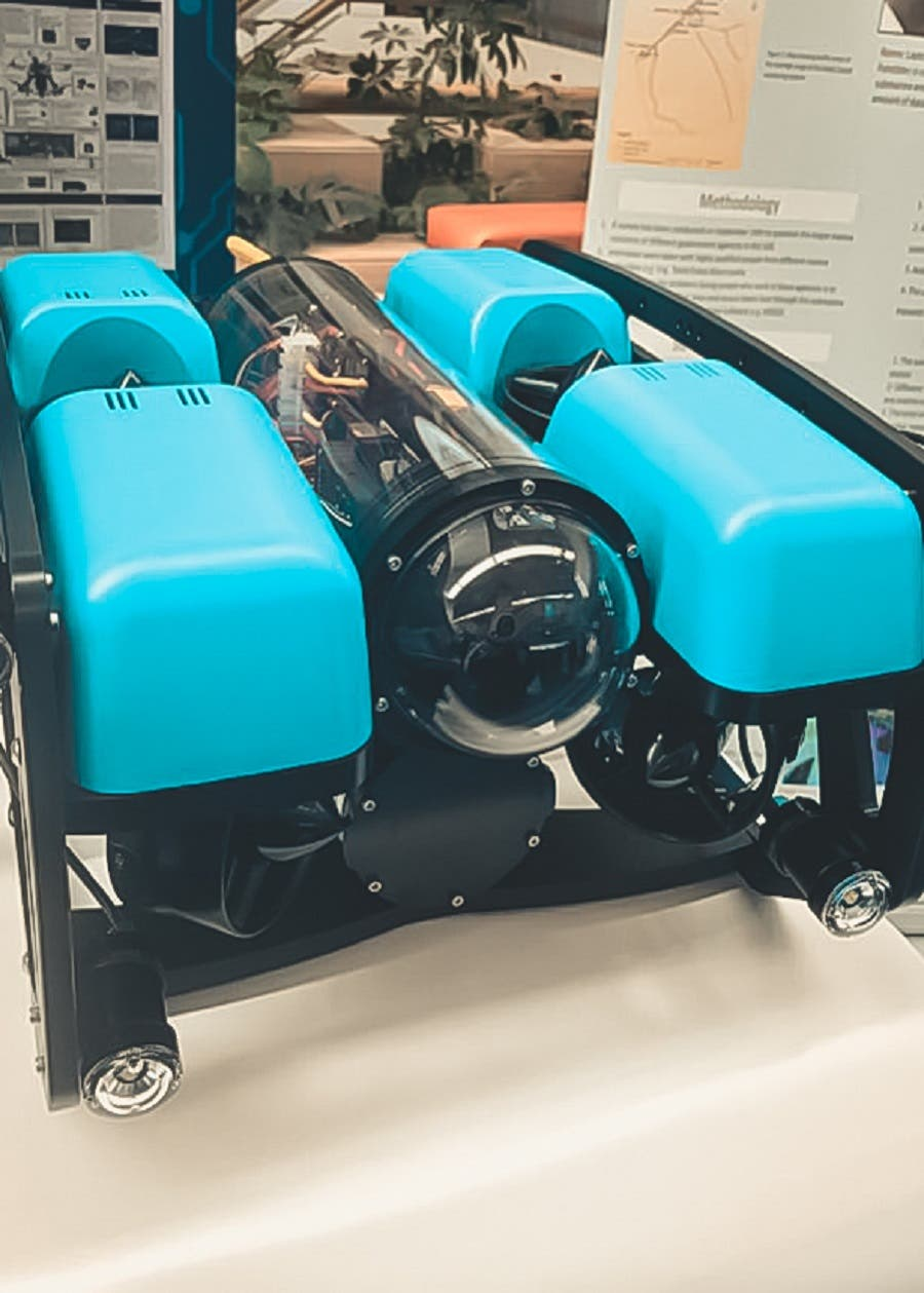 Smart Submarine Group, from United Arab Emirates University, designed a submarine that collects data on marine ecosystems. (Supplied)