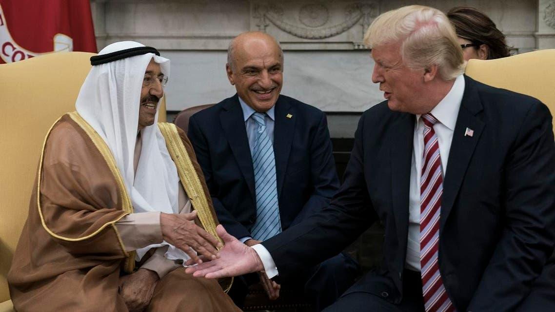 kuwait emir trump (AFP)