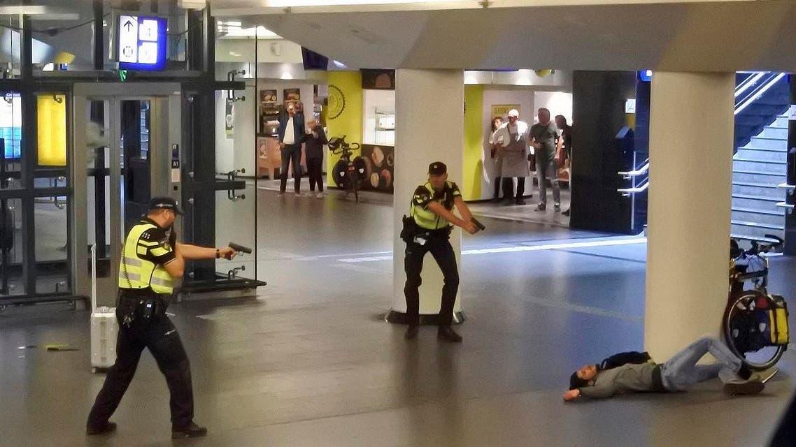 Amsterdam stabbing. (AP)